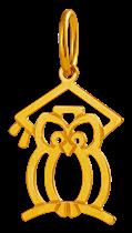 Pingente de Ouro 18k de Formatura Pedagogia