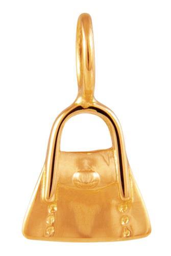 Pingente de Ouro 18k de Bolsa
