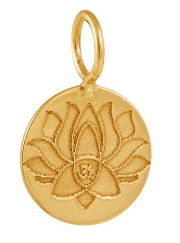 Pingente de Ouro 18k de Lotus Peace