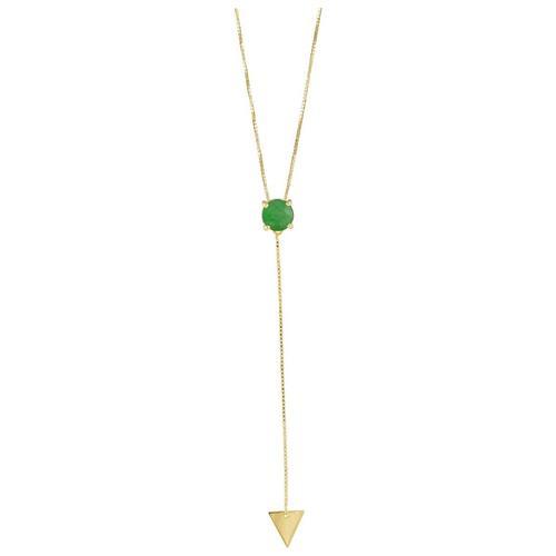 Pingente de Ouro 18k com Jade Verde