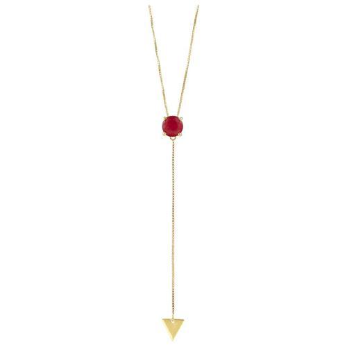 Pingente de Ouro 18k com Jade Vemelha