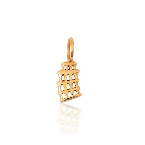Pingente de Ouro 18k Charms de Torre de Pisa