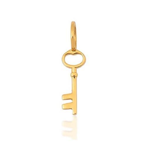 Pingente de Ouro 18k Charms de Chave