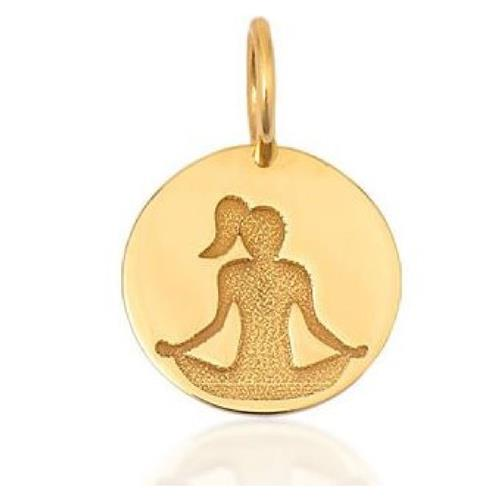 Pingente de Ouro 18k Charms de Yoga
