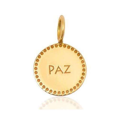 Pingente de Ouro 18k Charms de Paz