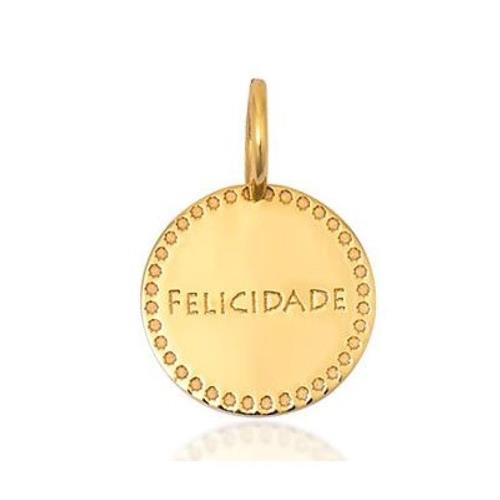 Pingente de Ouro 18k Charms de Felicidade