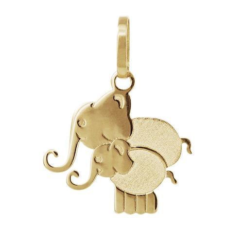 Pingente de Ouro 18k de Elefante