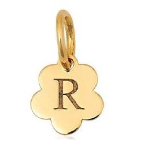 Pingente de Ouro 18k Charms de Letra R