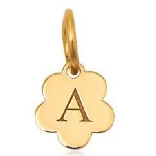Pingente de Ouro 18k Charms de Letra A