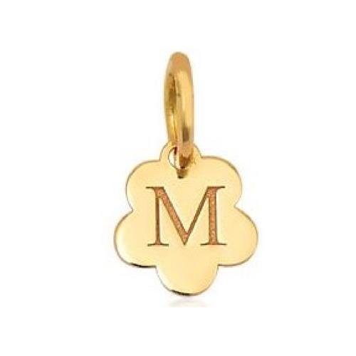 Pingente de Ouro 18k Charms de Letra M