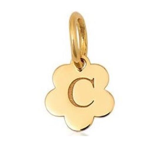 Pingente de Ouro 18k Charms de Letra C