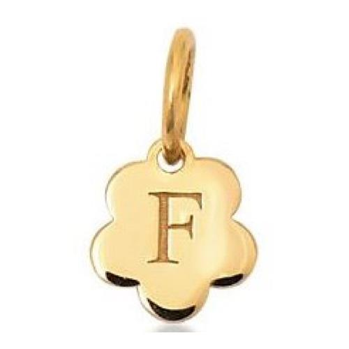 Pingente de Ouro 18k Charms de Letra F