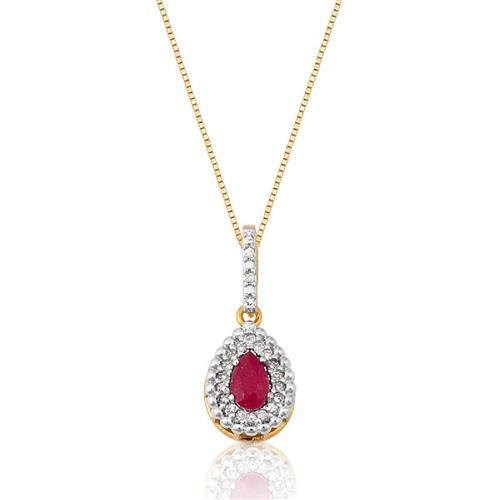 Pingente de Ouro 18k com Jade e Diamante