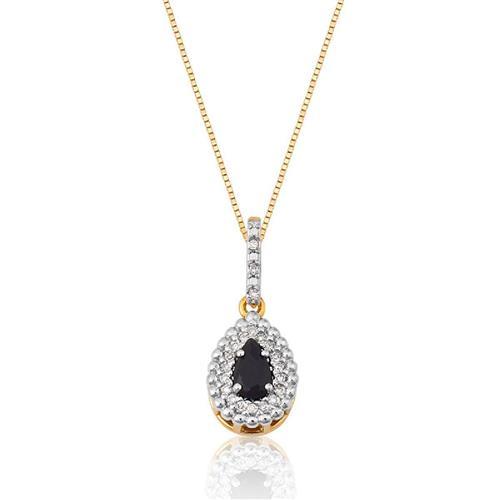 Pingente de Ouro 18k com Ônix e Diamante