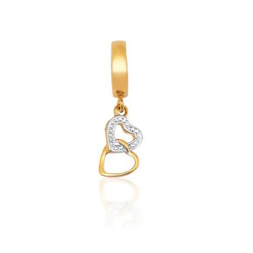 Pingente de Ouro 18k Charms de Coração