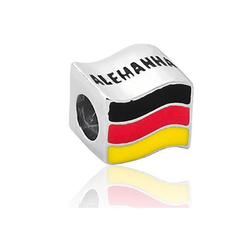 Pingente de Prata 925 Charms de Bandeira da Alemanha