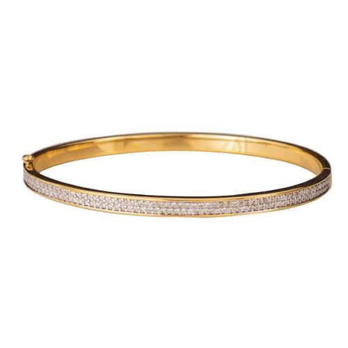 Pulseira de Ouro 18k com Diamante