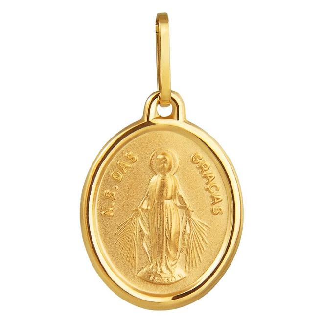 431890d1f80e0 Pingente de Ouro 18k de N. S. das Graças - PI.384 NSG - Coliseu