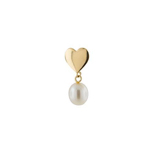 Pingente de Ouro 18k de Coração com Pérola