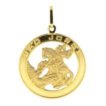 Pingente de Ouro 18k de São Jorge