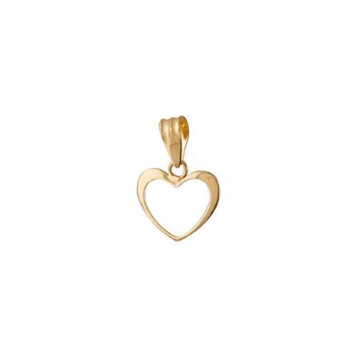 Pingente de Ouro 18k de Coração Vazado