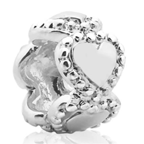 Pingente de Prata 925 Charms de Coração Pequeno