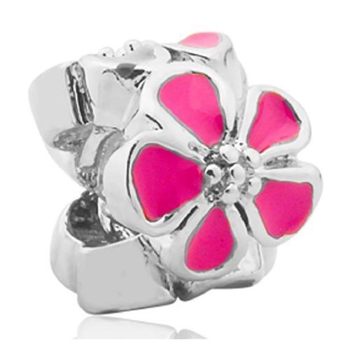 Pingente de Prata 925 Charms de Flor