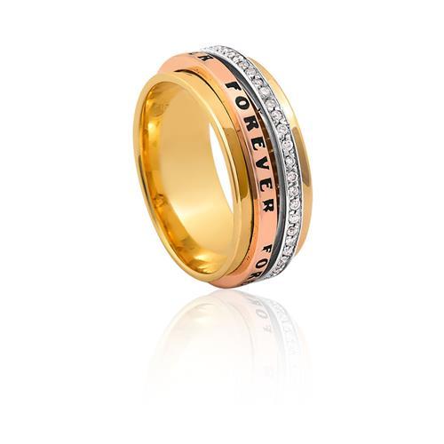 Aliança de Ouro 18k Forever com Diamante