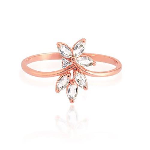 Anel de Ouro 18k com Cristal e Diamante