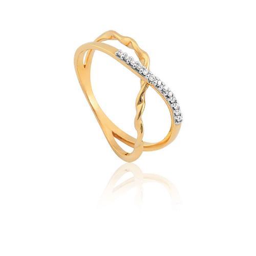 Anel de Ouro 18k com Diamante.