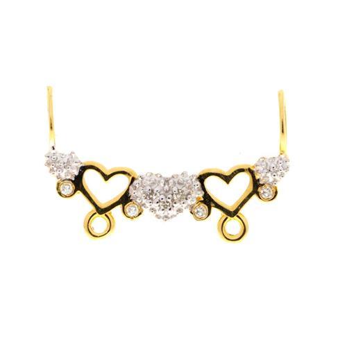 Pingente de Ouro 18k de Coração para Bonecos com Diamante