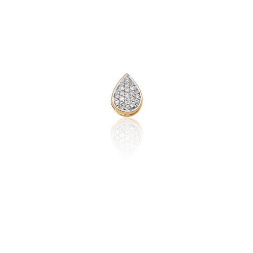 Pingente de Ouro 18k de Gota com Diamante