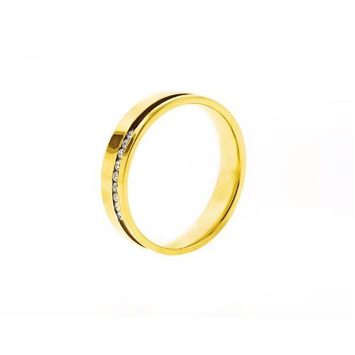 Aliança de Ouro 18k com Diamante